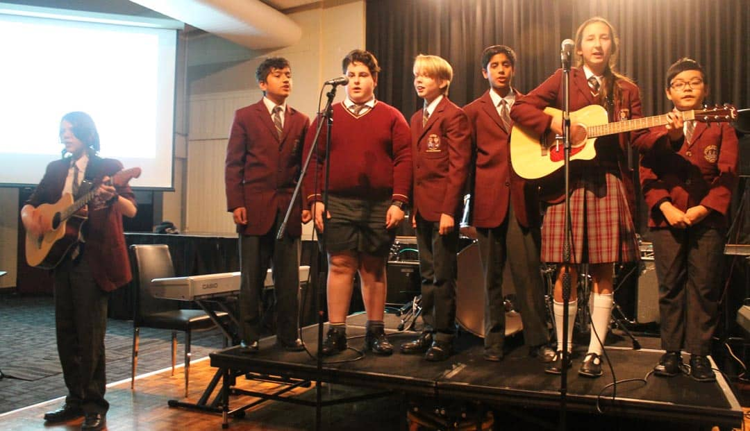 Oakleigh Grammar Music students performing