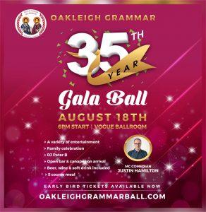 Oakleigh Grammar Gala Ball Final Invite