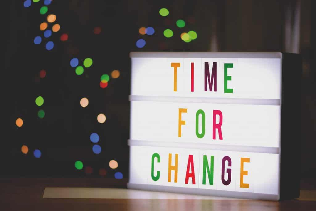 Time For Change Sign With Led Light 2277784