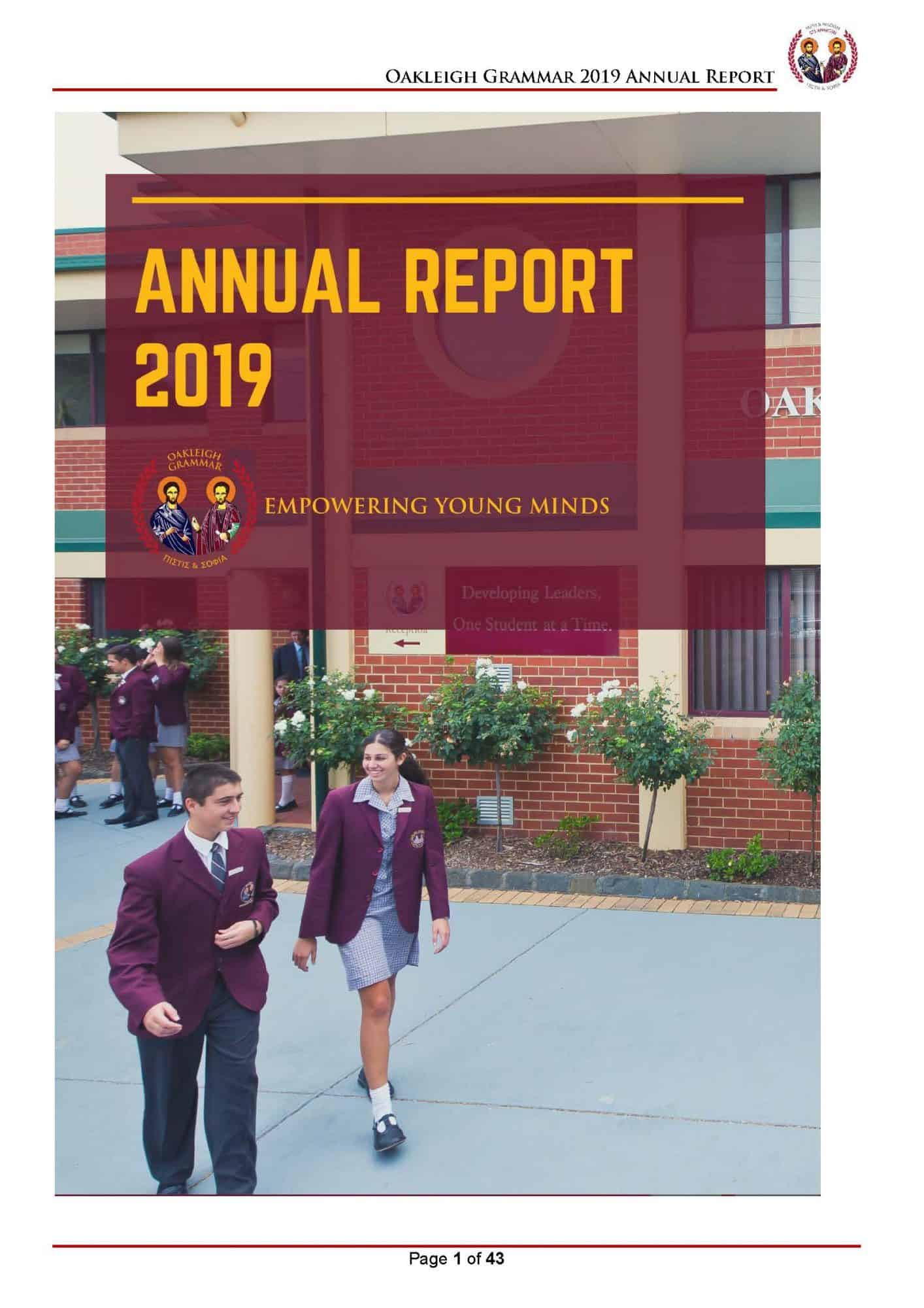 Oakleigh Grammar Annual Report