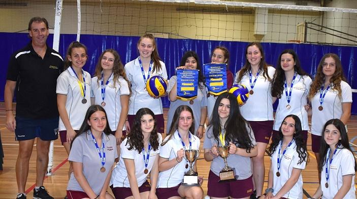 2019 Year 8 9 Girls Volleyball A B Premiership Teams